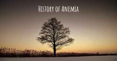 History of Anemia