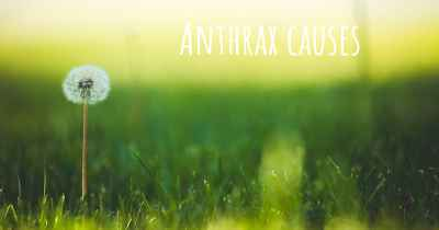 Anthrax causes