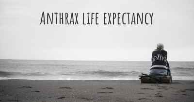 Anthrax life expectancy