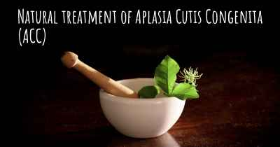 Natural treatment of Aplasia Cutis Congenita (ACC)