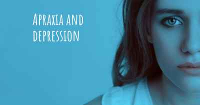 Apraxia and depression