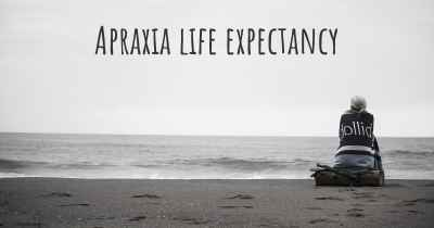Apraxia life expectancy
