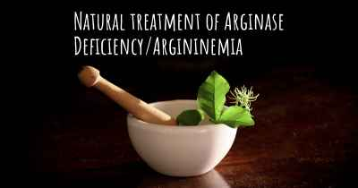 Natural treatment of Arginase Deficiency/Argininemia