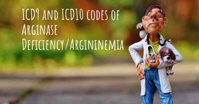 ICD9 and ICD10 codes of Arginase Deficiency/Argininemia