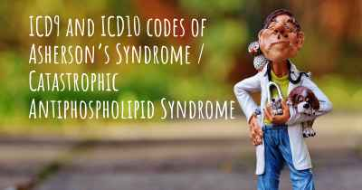 ICD9 and ICD10 codes of Asherson's Syndrome / Catastrophic Antiphospholipid Syndrome