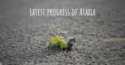 Latest progress of Ataxia