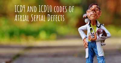 ICD9 and ICD10 codes of Atrial Septal Defects