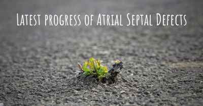 Latest progress of Atrial Septal Defects