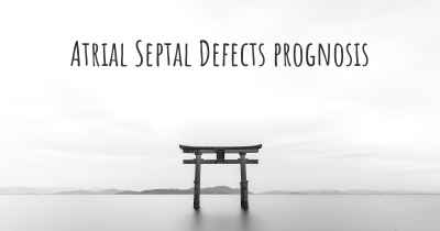 Atrial Septal Defects prognosis