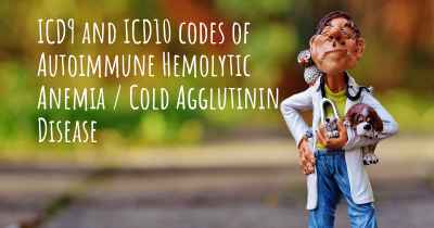 ICD9 and ICD10 codes of Autoimmune Hemolytic Anemia / Cold Agglutinin Disease