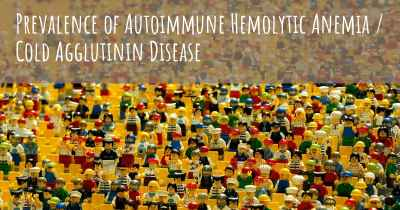 Prevalence of Autoimmune Hemolytic Anemia / Cold Agglutinin Disease