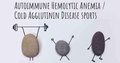 Autoimmune Hemolytic Anemia / Cold Agglutinin Disease sports