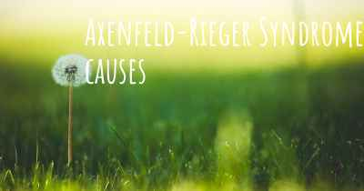 Axenfeld-Rieger Syndrome causes