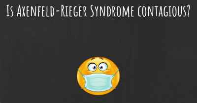 Is Axenfeld-Rieger Syndrome contagious?