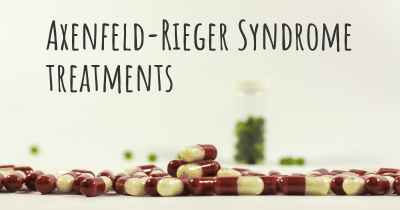 Axenfeld-Rieger Syndrome treatments