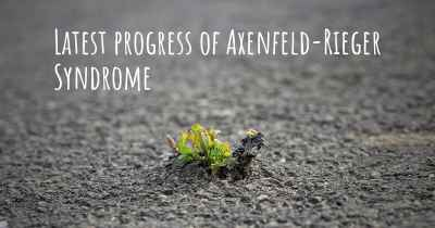 Latest progress of Axenfeld-Rieger Syndrome