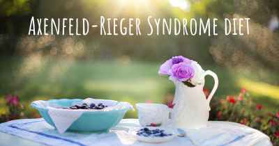 Axenfeld-Rieger Syndrome diet
