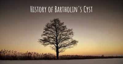 History of Bartholin's Cyst
