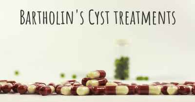 Bartholin's Cyst treatments