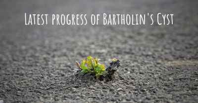 Latest progress of Bartholin's Cyst