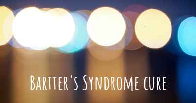 Bartter's Syndrome cure