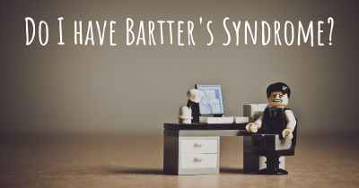 Do I have Bartter's Syndrome?