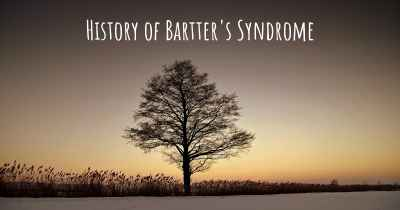 History of Bartter's Syndrome