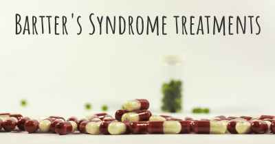 Bartter's Syndrome treatments