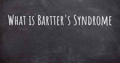 What is Bartter's Syndrome