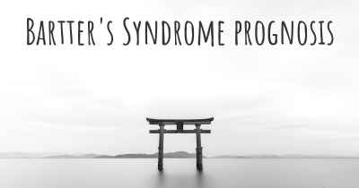 Bartter's Syndrome prognosis