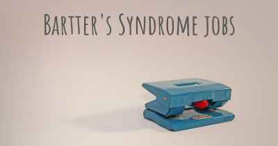 Bartter's Syndrome jobs
