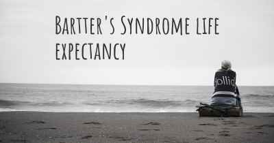 Bartter's Syndrome life expectancy