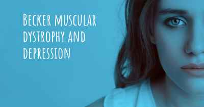 Becker muscular dystrophy and depression