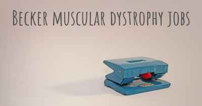 Becker muscular dystrophy jobs