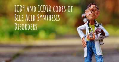ICD9 and ICD10 codes of Bile Acid Synthesis Disorders