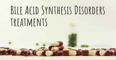 Bile Acid Synthesis Disorders treatments