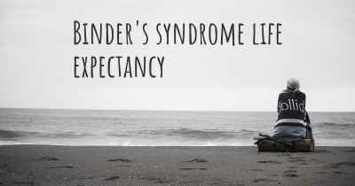 Binder's syndrome life expectancy