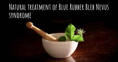 Natural treatment of Blue Rubber Bleb Nevus syndrome