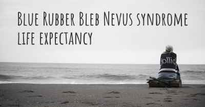 Blue Rubber Bleb Nevus syndrome life expectancy