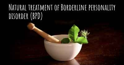 Natural treatment of Borderline personality disorder (BPD)
