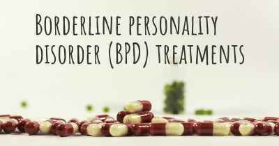 Borderline personality disorder (BPD) treatments