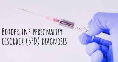 Borderline personality disorder (BPD) diagnosis