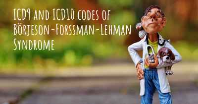 ICD9 and ICD10 codes of Börjeson-Forssman-Lehman Syndrome