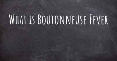 What is Boutonneuse Fever