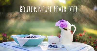 Boutonneuse Fever diet