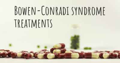 Bowen-Conradi syndrome treatments