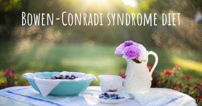 Bowen-Conradi syndrome diet