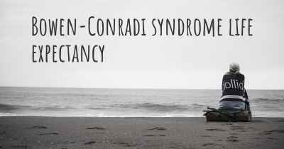 Bowen-Conradi syndrome life expectancy