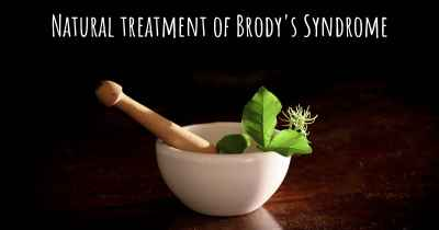Natural treatment of Brody's Syndrome
