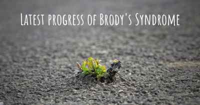 Latest progress of Brody's Syndrome